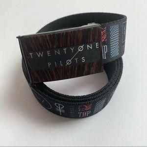 twentyone pilots belt Wooden style buckle